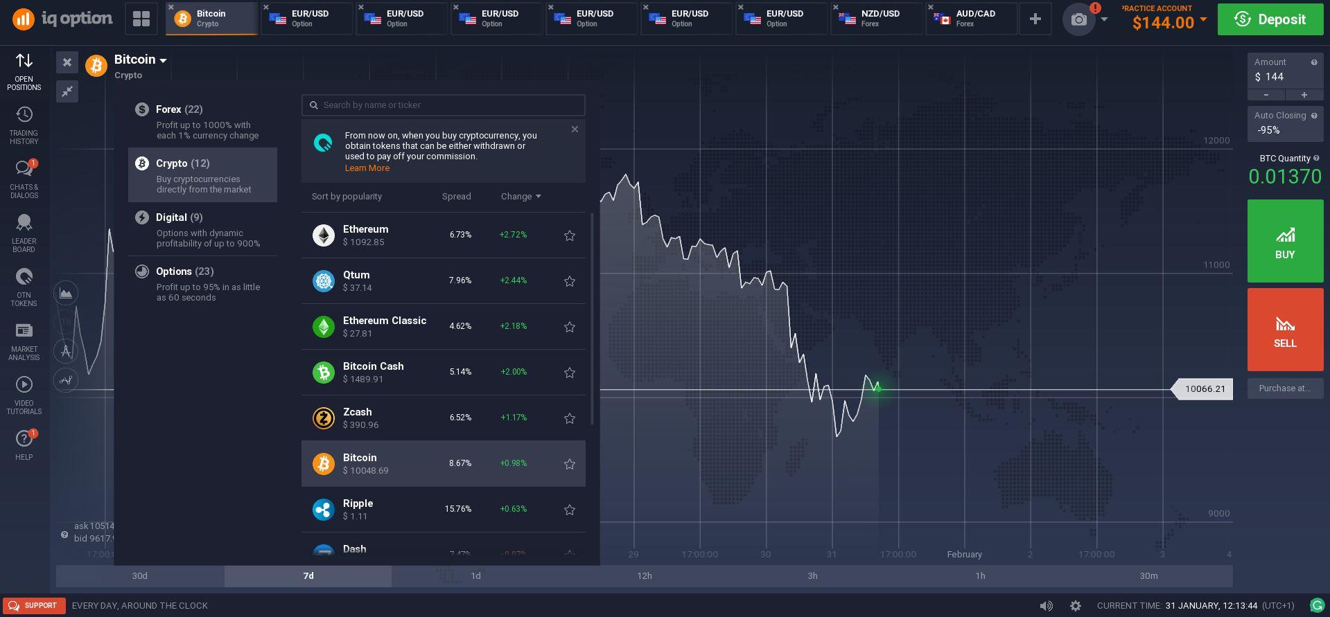 Trading Bitcoin For Tron