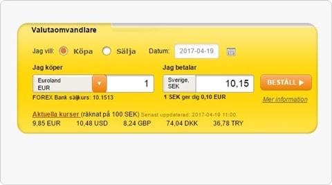 Forex.se valutaomvandlare
